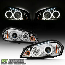 2006 2013 Chevy Impala 06 07 Monte Carlo Led Halo Drl Projector Headlights Lamps Fits 2006 Impala