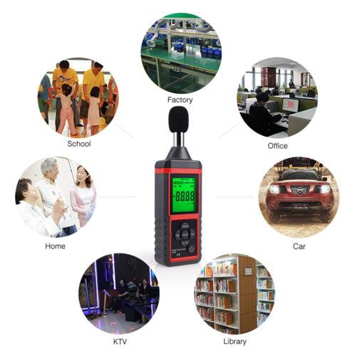 Schallpegelmesser Digitaler Geräuscherkennung Daten Detektoren Tester 40-130dB