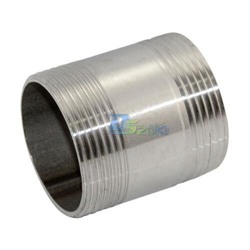 """1-1//2 /""""Macho X 1-1//2/"""" Macho Con Rosca de instalación de tuberías De Acero Inoxidable Ss304 TNP Nuevo"""