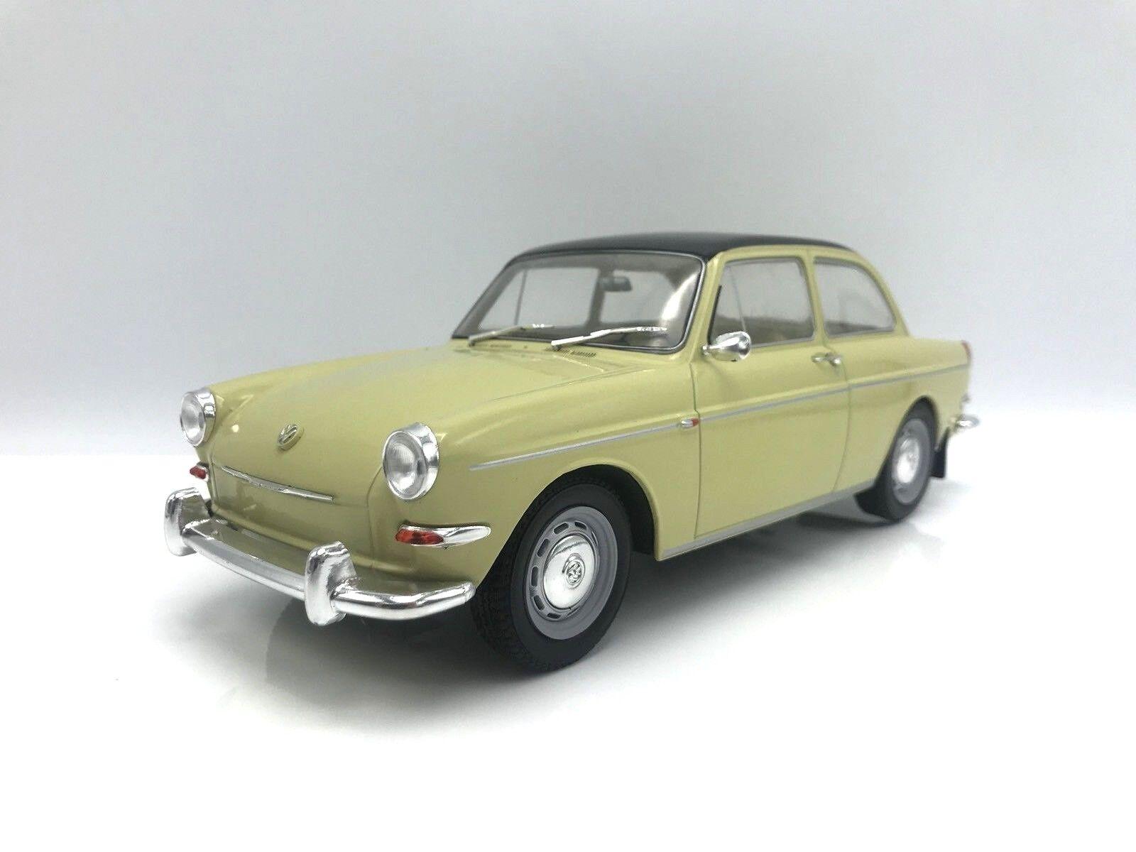 VW 1500 S (TYPE 3) 1963-Beige Noir - 1 18 MCG    NEW