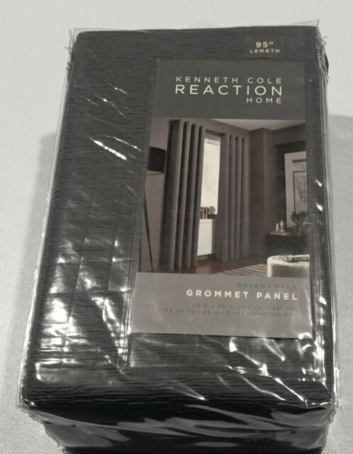 "Kenneth Cole 95"" Home Bryant Park Window Curtain Panel - Graphite"