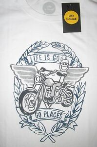 LIFE IS GOOD Motorcycle Bike Harley Jake Go Places Mens SS TShirt ... 13faaefab