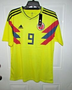 fa9477e2460 Image is loading Colombia-FALCAO-Soccer-Yellow-Jersey-Climalite-9-size-
