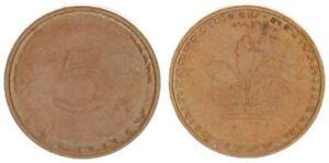 Rfa 5 Peniques 1950G Fehlprägung: Fremder Schrötling EBC 56060