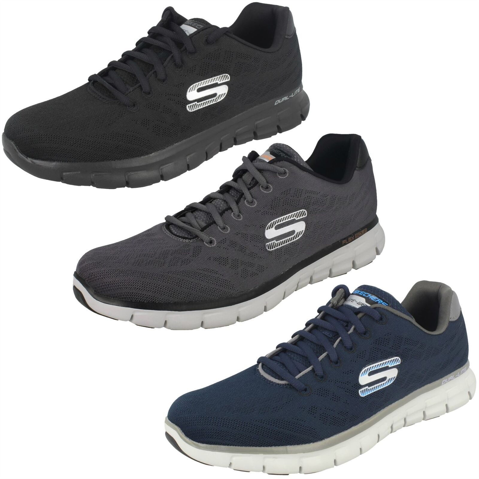 'Mens Skechers' Casual Trainer Synergy - Fine Tune