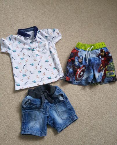 Boys Shorts and T shirt swim shorts Avengers 12-18 Months 1-1.5 years