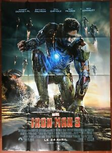 Affiche-IRON-MAN-3-Guy-Pearce-ROBERT-DOWNEY-Jr-MARVEL-Super-Heros-120x160cm