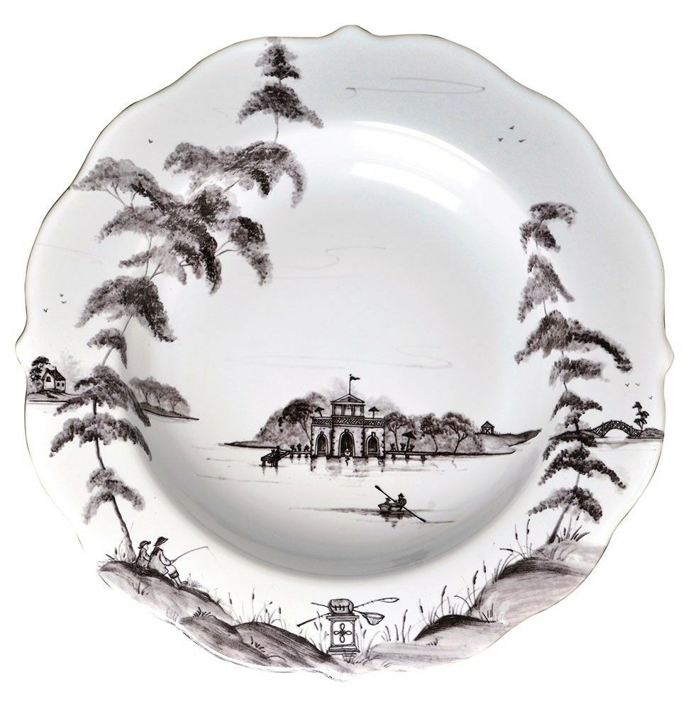 Juliska Country Estate Flint Pasta Soup Bowl Boathouse - Set of 4