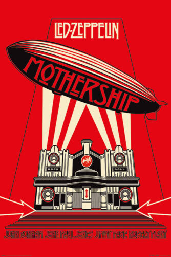 LED ZEPPELIN MOTHERSHIP RED 24x36 poster ROBERT PLANT JIMMY PAGE JONES BONHAM!!!