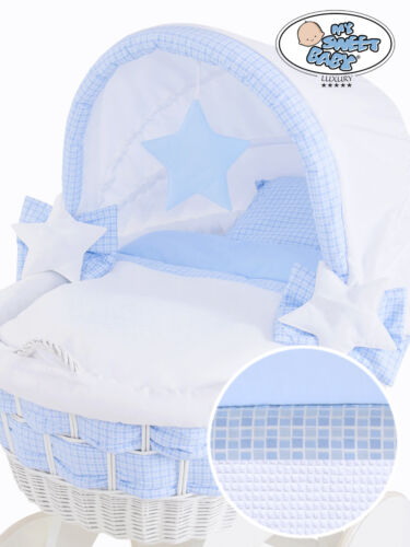COVERS ONLY FOR LARGE HOODED WICKER CRIB REPLACEMENT NEW BEDDING SET WITH HOOD