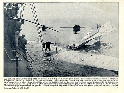 Erstflug über Den Kanal Latham Ws Blériot Aeroplan Lathams Absturz Von 1909 Strengthening Waist And Sinews Luftfahrt & Zeppelin