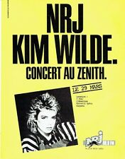 Publicité Advertising 057  1985  radio NRJ  Kim Wilde concert au Zenith