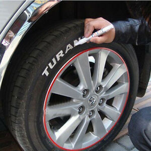 1 215 White Cool Racing Car Motorcycle Tire Tyre Pen Diy