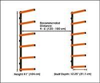 Htc Pbr-001 Portamate Wood Storage Lumber Organizer Rack, Wall Mount , New, Free on sale