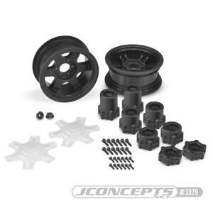 JConcepts 12mm Hex Dragon 2.6inch Mega Truck Rim Offset Adapters Disks RC #3379B