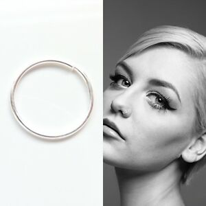 Sterling-Silver-Seamless-Nose-Ring-Hoop-Cartilage-Tragus-Piercing-8mm-10mm
