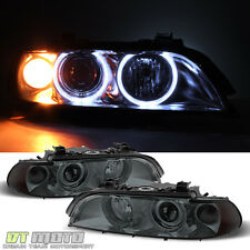 Smoked 1997-2003 BMW E39 5-Series Halo Projector Headlights Fit Halogen Model