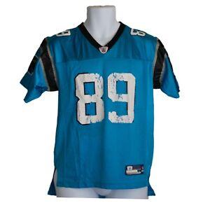 64aff6f40 Youth Boys Reebok Carolina Panthers Steve Smith  89 Blue Jersey Size ...