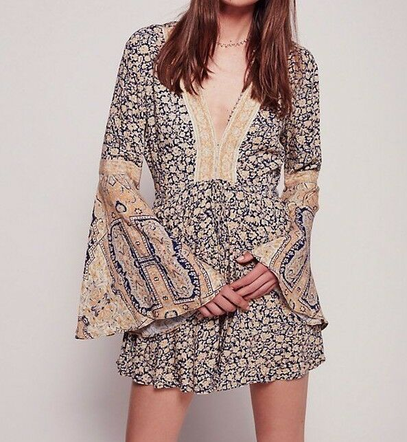 NWT ☮ FREE PEOPLE Floral Printed Once Upon A Summertime Romper ☮