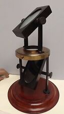 POLARISCOPE (POLARISATION) C1860 { Glass Blocks } Mahogany & Brass { Rare }