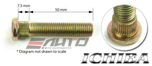8x ICHIBA 50mm 12x1.5 M12 P1.5 13mm Extend Long Wheel Rim Stud Mazda