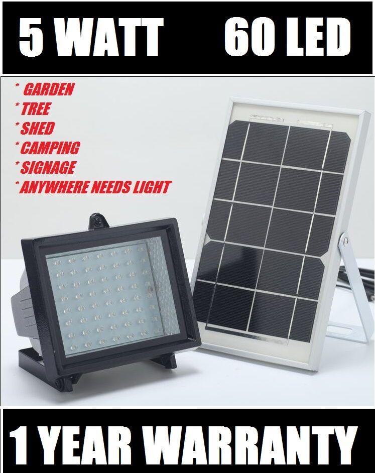 Bizlander 60LED Solar Luz de inundación para Luz de Seguridad de señalización Balcón Jardín Granja
