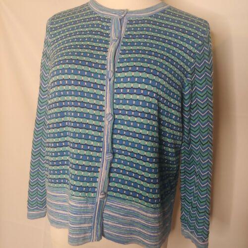 Womens AXCESS Liz Claiborne Sleeveles Empire Geometric Button Print Dress Office