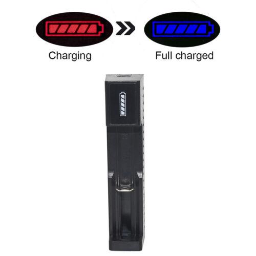 USB-Anschluss Universal-Akkuladegerät für 3,7 V 18650 26650 14500 Li-Ion-Akku X