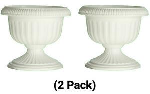 178 & Details about 12 Inch Plastic Round Grecian Urn Planter Flower Pot