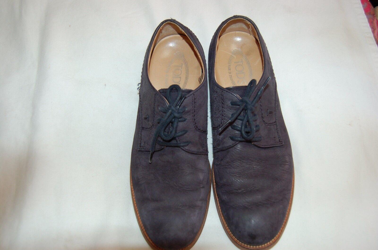 Tod'S Azul Marino Cuero Con Con Con Cordones Hombres Zapatos /2 3468a8