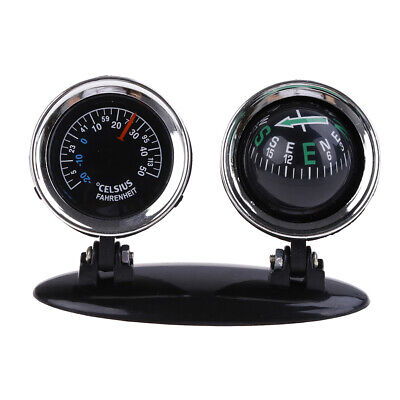 2 in 1 Guide Ball Car Compass Thermometer Car Ornament Direction Dashboard UK