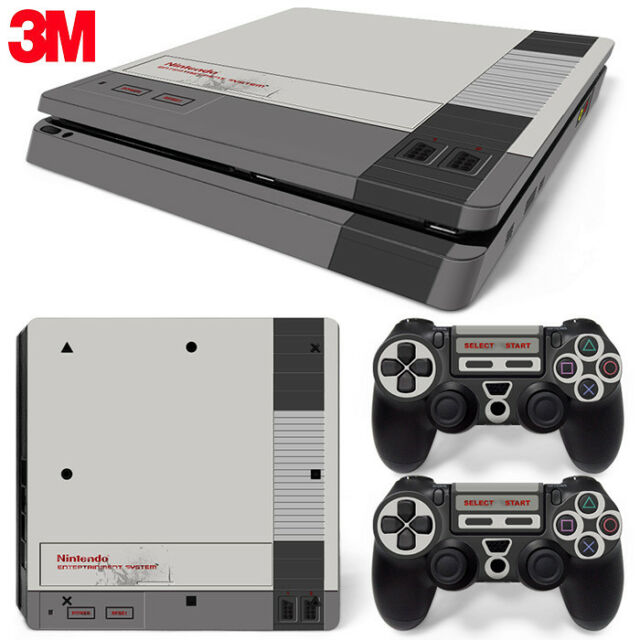 Ps4 Playstation 4 Console Skin Decal Sticker Old NES Retro