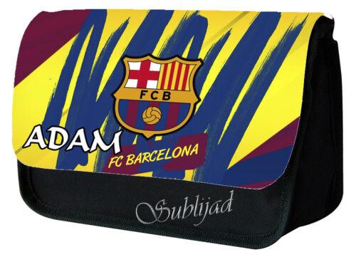 Trousse à crayons FC Barcelone Batça personnalisé avec prénom de votre choix .
