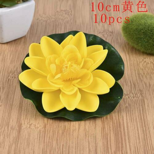 Artificial Lotus Flower Water Lily Fake Plants Swimming Pool Floating Plant US