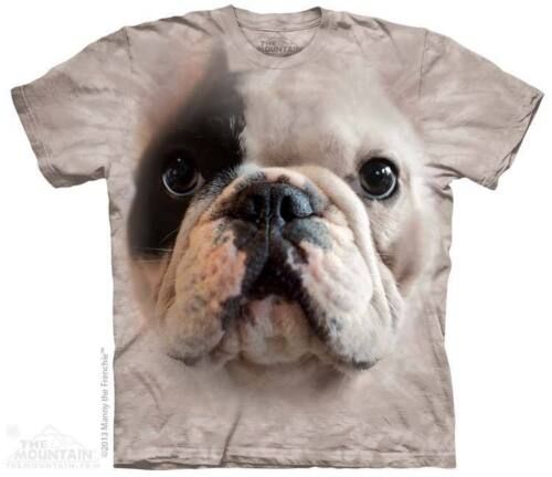 Cotone Donna,Uomo,Ragazze /& Animale Grande Viso Cane T-Shirt By The da Montagna