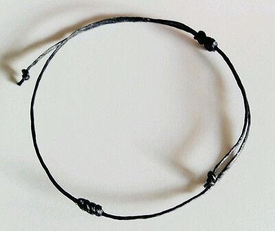 Authentic Thai Blessed Buddhist Wristband Bracelet Fair Trade Thin Wax Cotton