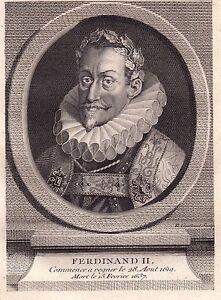 Portrait-XVIIIe-Ferdinand-II-de-Habsbourg-Roi-de-Boheme-Autriche-Hongrie