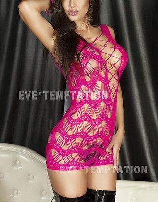 hot Sexy Fishnet Lingerie Sleepwear Nightwear Stripper Dress Babydoll plus size