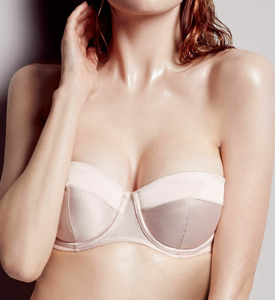 L'Agent by Agent Provocateur Natural Penelope Padded Bra Nude Strapless34B C3435