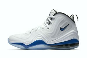 """Nike Men's Air Penny 5 """"Orlando Home"""" Shoes NEW AUTHENTIC White/Blue CN0052-100"""