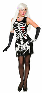 Bleeding Heart Dress Womens Adult Skeleton Halloween Costume