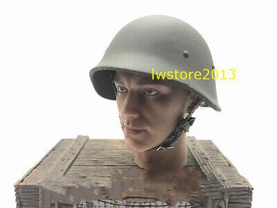 1//6 Soldier Accessory WWII Soviet SSH40 Metal Helmet Action Figure Toy
