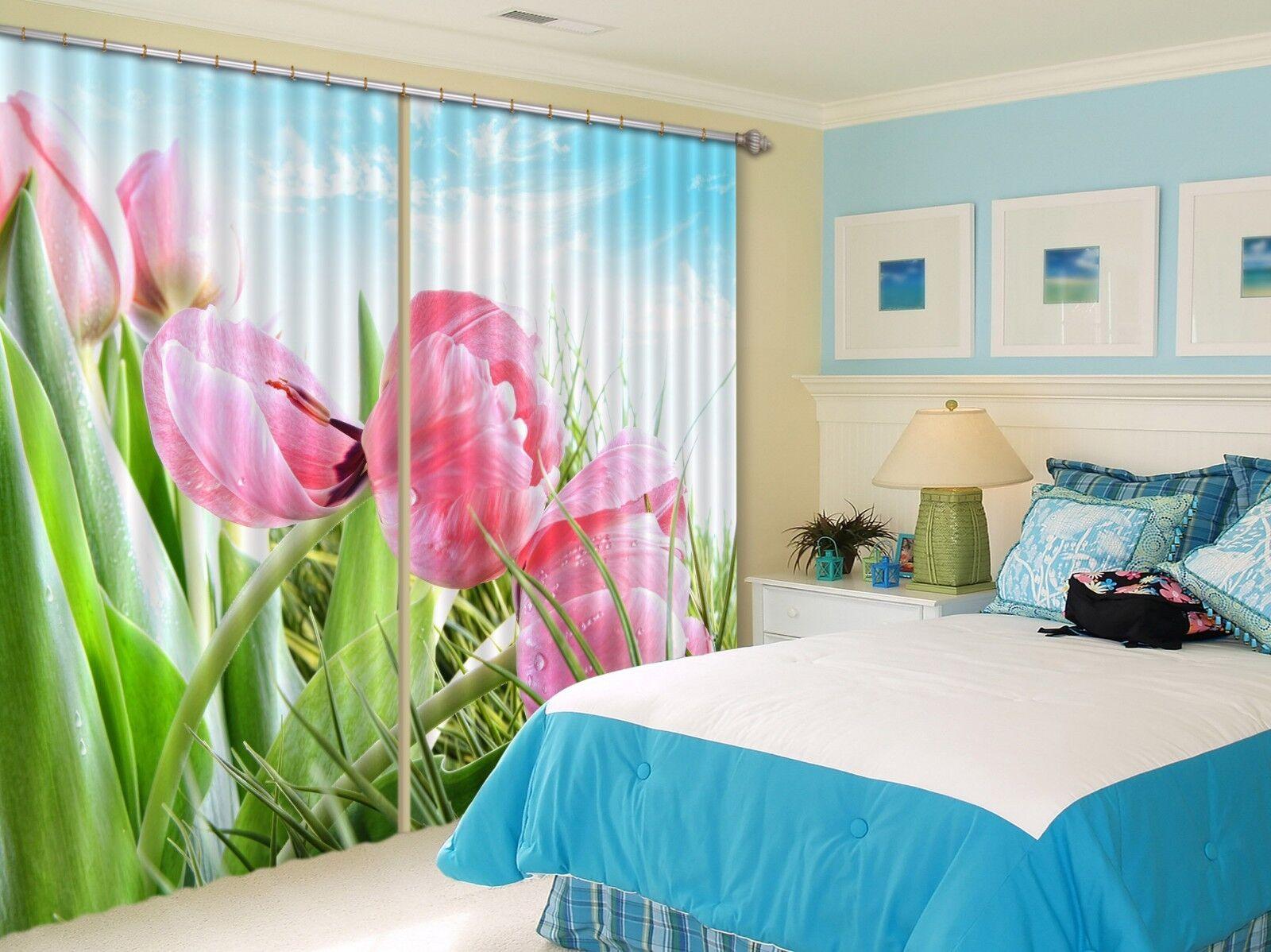3D Flores 709 Cortinas de impresión de cortina de foto Blockout Tela Cortinas Ventana au
