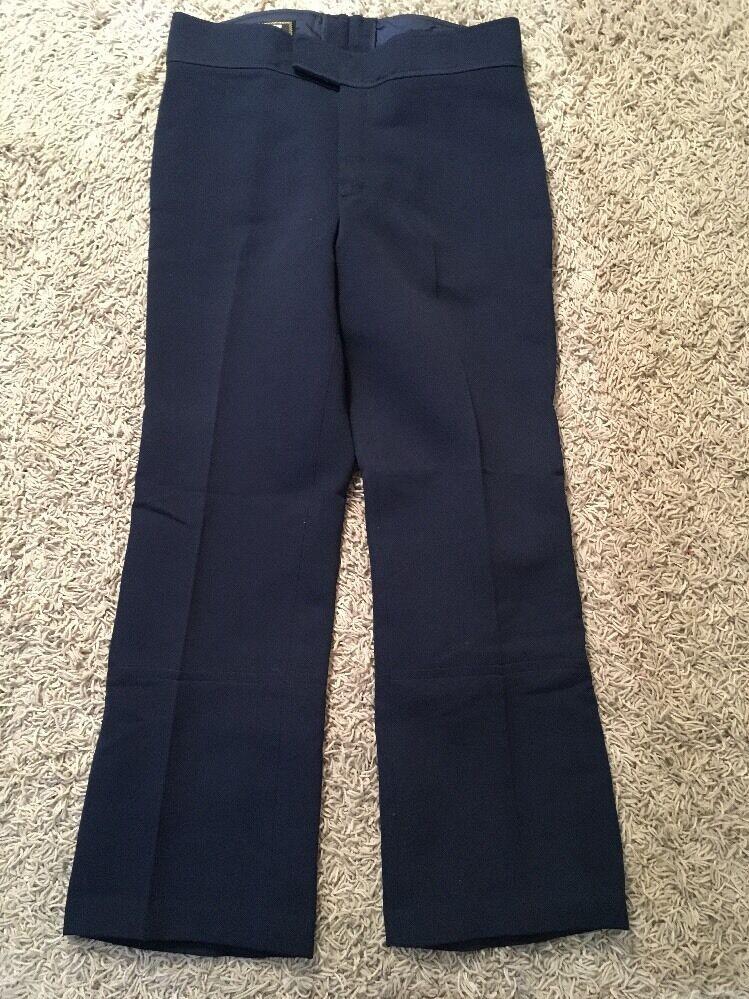 Women's Edelweiss Navy Nylon Wool Ski Pants, Small