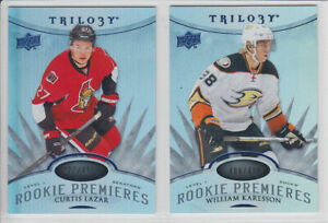 2014-15-UD-TRILOGY-CURTIS-LAZAR-RC-PREMIERES-BLUE-499-ROOKIE-Upper-Deck-Senator