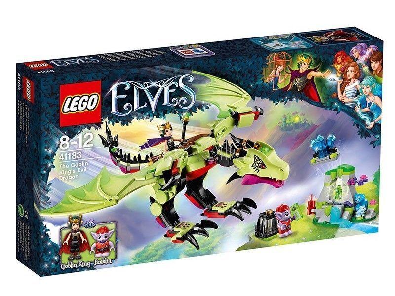 LEGO ELFOS 41183 EL DRAGÓN MAL MAL MAL DE REY GOBLIN KING'S EVIL DRAGON EDIFICIOS 6790f7