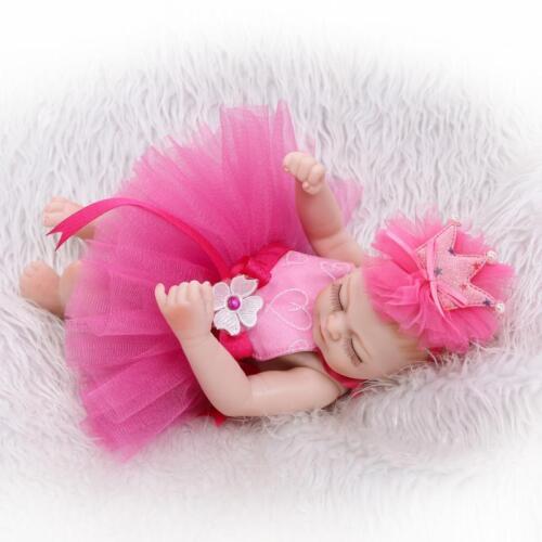 11 Handmade Sleeping Newborn Baby Vinyl Full Body Silicone Reborn Doll Girl New