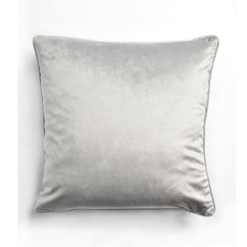 Luxury Plain Soft French Velvet Piped Cushions Scatters Home Decor Cover//Filled