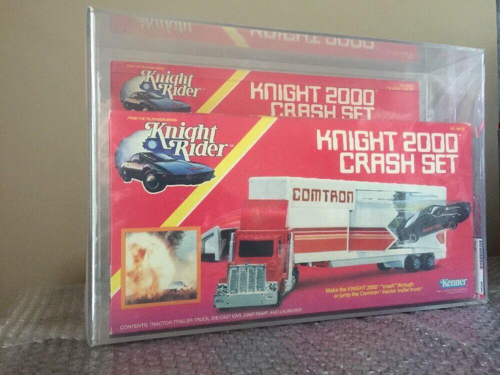 Knight Rider - Kenner  1983 Knight 2000 Crash Set Factory Sealed AFA 75 RARE guarda  spedizione e scambi gratuiti.