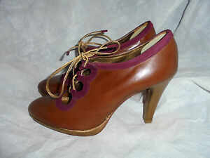 Size Leather Up 5 38 Us Lace Vgc Leifsdottir Uk 8 Sandals Women's Eu Brow Heel w0qRBaHp